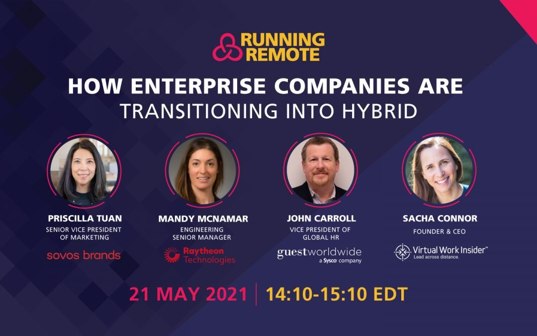 How Large Enterprise Companies are Transitioning into Hybrid